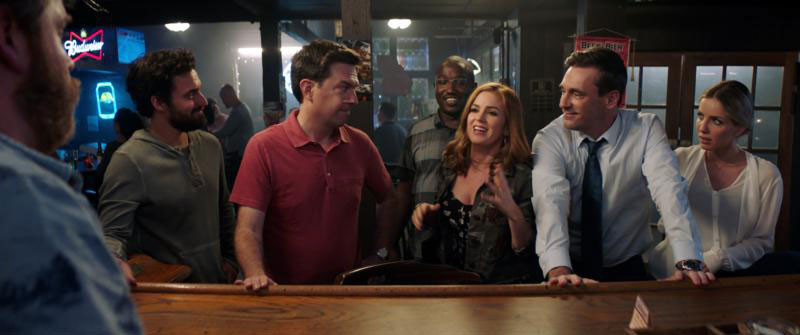 "Jake Johnson, Ed Helms, Hannibal Buress, Isla Fisher, Jon Hamm and Annabelle Wallis star in a scene from the movie ""Tag."" The Catholic News Service classification is O -- morally offensive. The Motion Picture Association of America rating is R -- restricted. Under 17 requires accompanying parent or adult guardian. (CNS photo by Warner Bros. Pictures)"