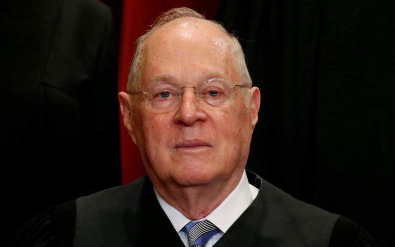 Justice Anthony Kennedy is seen at the U.S. Supreme Court building in Washington June 1, 2017. The 81-year-old Californian said June 27 that he will retire July 31. (CNS photo by Jonathan Ernst/Reuters)