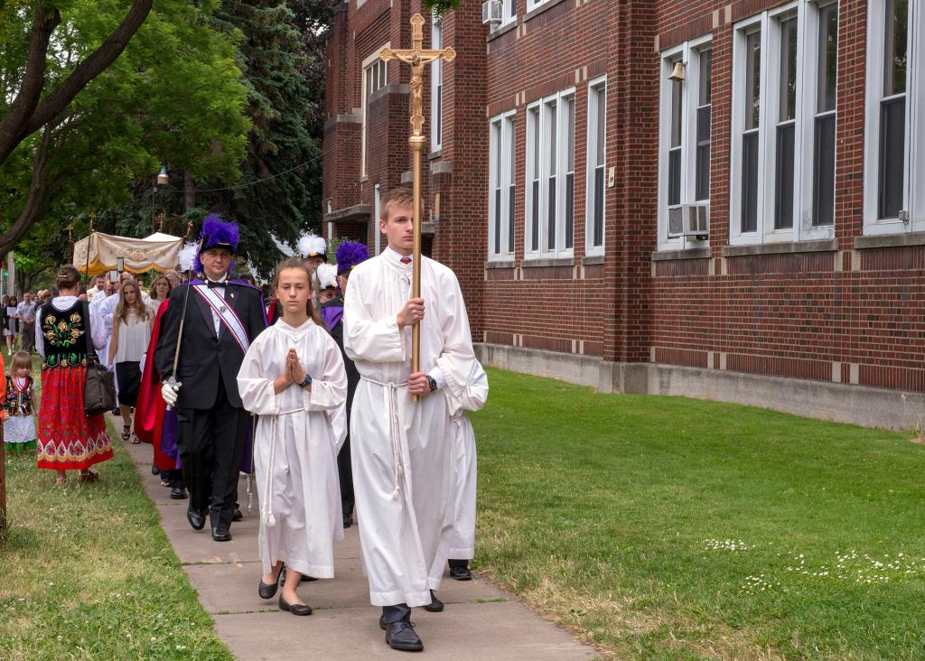 The procession makes its way to the final altar.