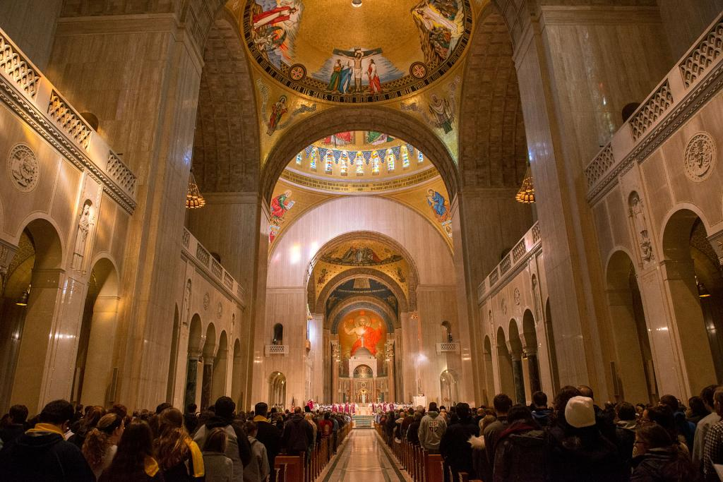 A Right to Life Mass is held at the Basilica of the National Shrine of the Immaculate Conception.
