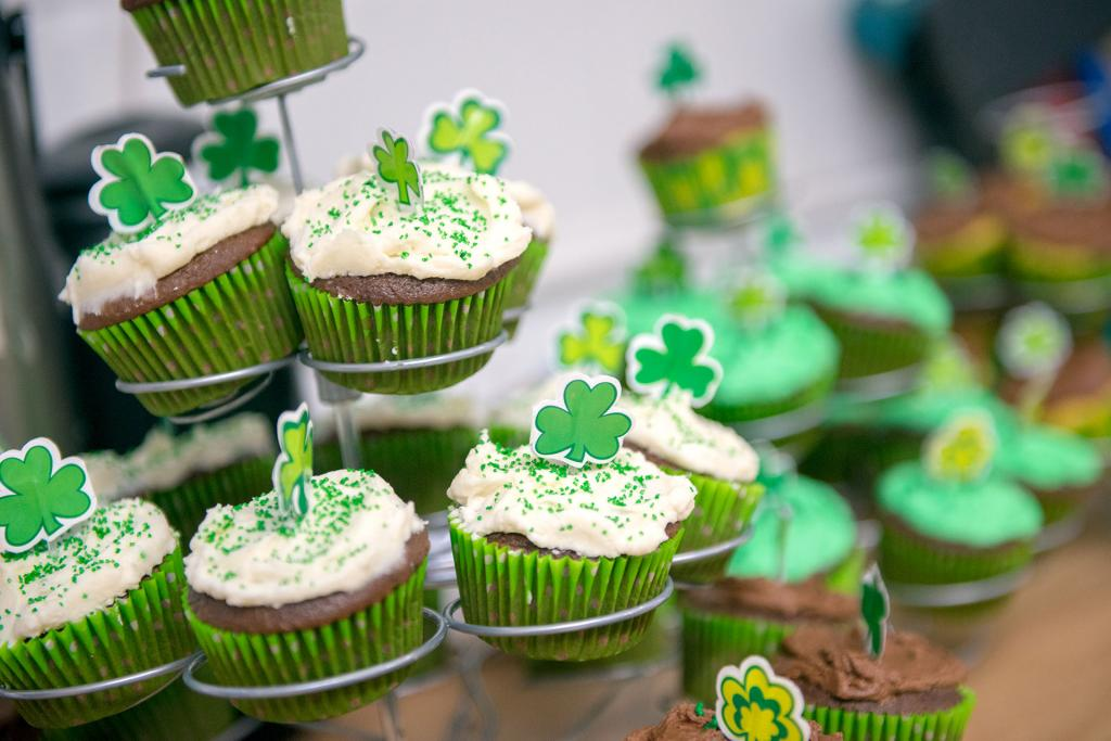 Homemade cupcakes are decorated for St. Patrick's Day.(Courier photo by Jeff Witherow)