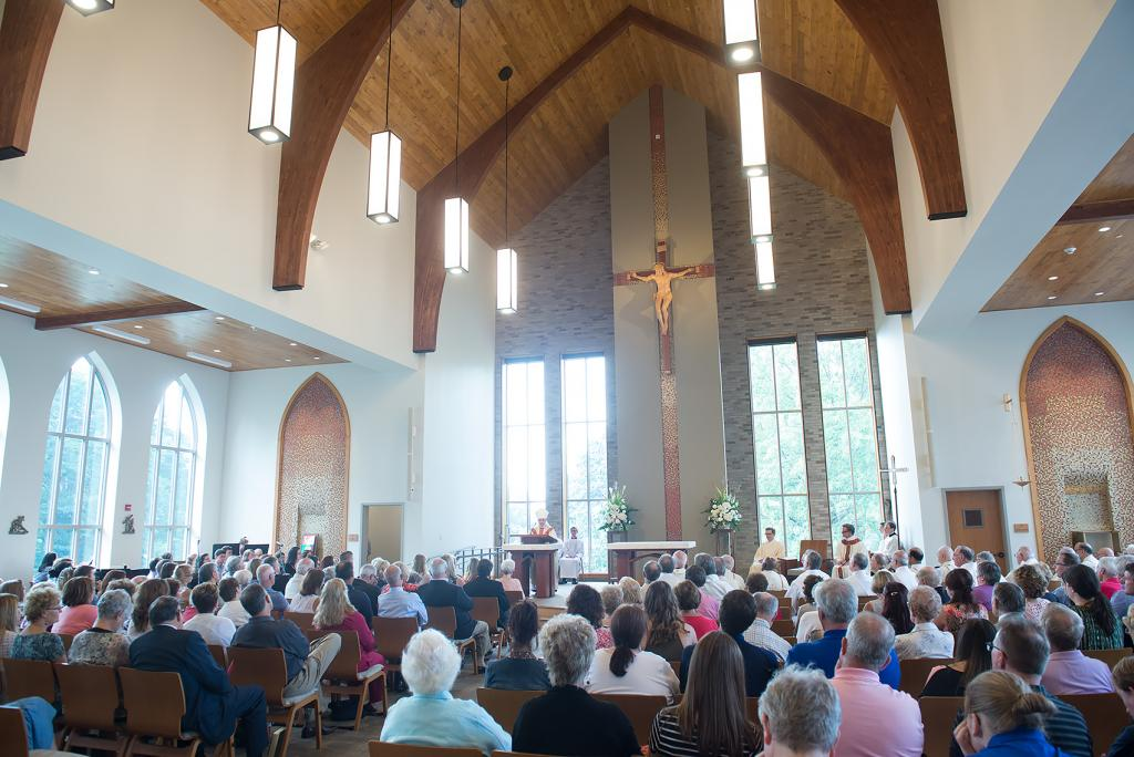 The first Mass in the new Hermance Family Chapel of St. Basil the Great at St. John Fisher College was held Sept. 17.