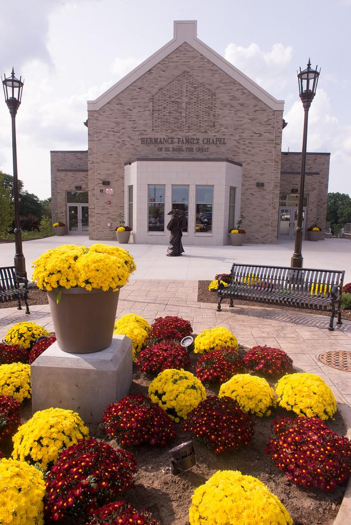 The new Hermance Family Chapel of St. Basil the Great is located adjacent to Kearney Hall at St. John Fisher College.