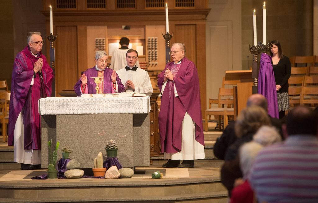 Bishop Salvatore R. Matano presides atthe Mass.