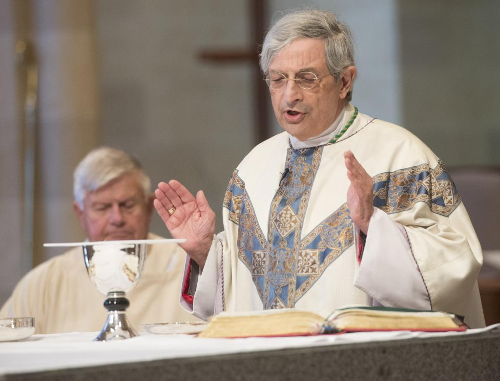 Bishop Salvatore R. Matano was principal celebrant and homilist at the Oct. 14 Blue Mass at Sacred Heart Cathedral.
