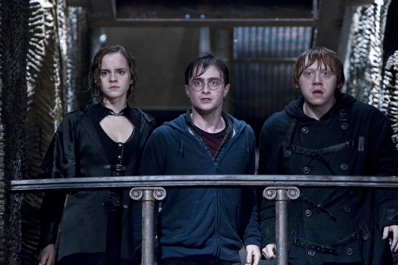 "Emma Watson, Daniel Radcliffe and Rupert Grint star in a scene from the movie ""Harry Potter and the Deathly Hallows -- Part 2."""