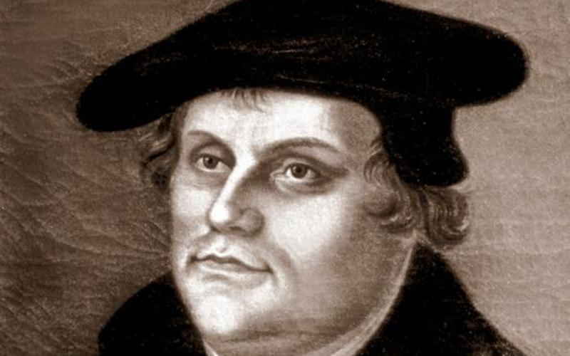 Martin Luther, a German monk, is depicted in this painting at a church in Helsingor, Denmark. Catholics and Lutherans will demonstrate their unity and commemorate the 500th anniversary of the Protestant Reformation during a prayer service Oct. 29.