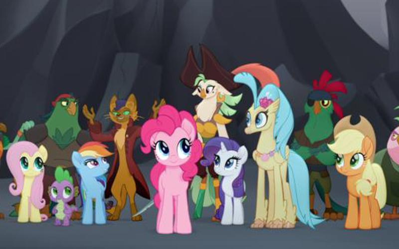 "Animated characters appear in the movie ""My Little Pony: The Movie""."