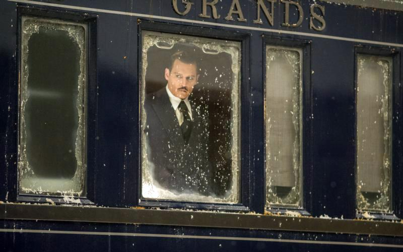 """Johnny Depp stars in a scene from the movie """"Murder on the Orient Express."""" (CNS photo by Fox)"""
