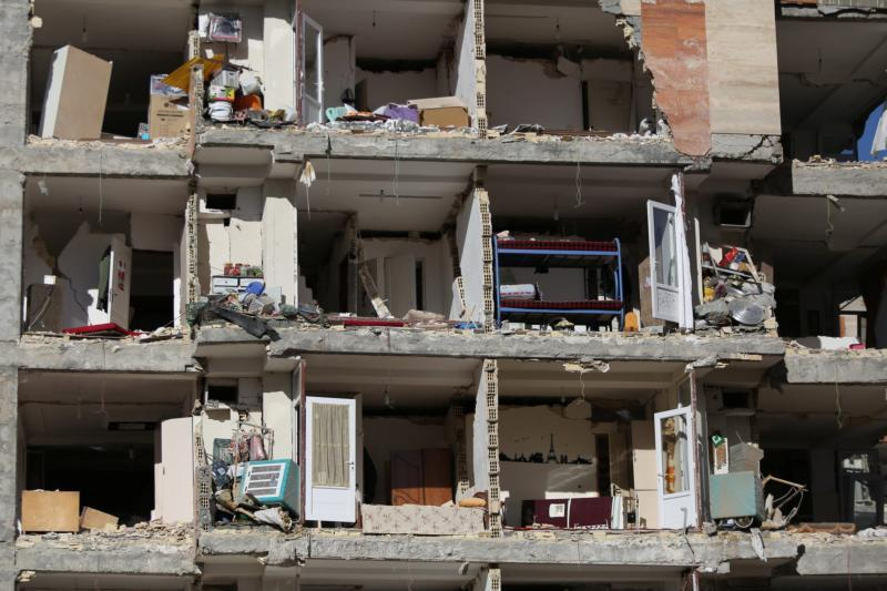A damaged building is seen following an earthquake in Sarpol-e Zahab, Iran Nov. 13. The Nov. 12 earthquake killed more than 400 people and injured more than 6,000 in Iran and Iraq. (CNS photo by Tasnim News Agency via Reuters)