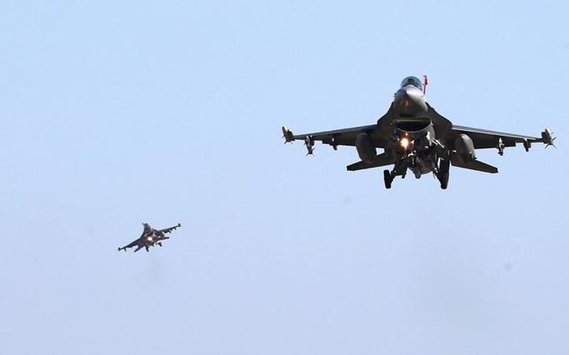 U.S. Air Force F-16 fighter jets fly over the Osan Air Base in Pyeongtaek, South Korea. (CNS photo by Oh Jang-hwan, News1 via Reuters)