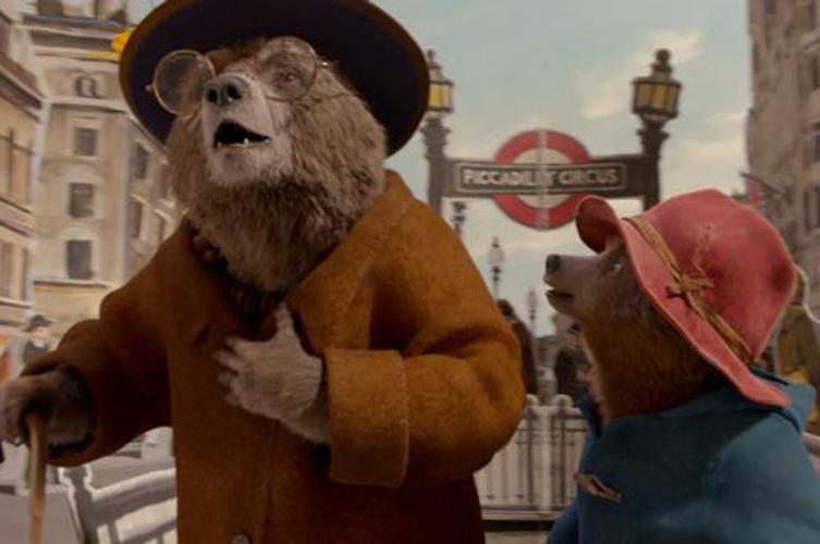 "Animated characters Aunt Lucy, voiced by Imelda Statunton and Paddington, voiced by Ben Whishaw, appear in the movie ""Paddington 2. (CNS photo by Warner Bros.)"
