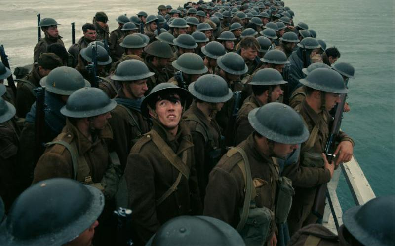 """Soldiers are shown in a scene from the movie """"Dunkirk."""" (CNS photo by Warner Bros.)"""