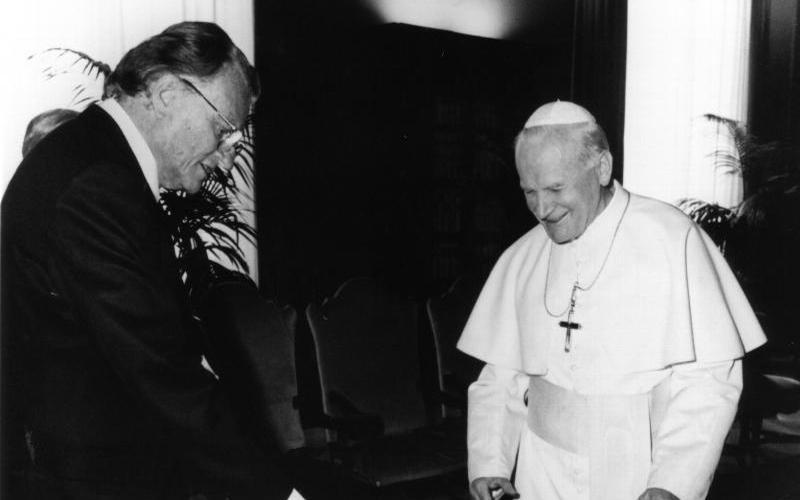 Image result for billy graham pope john paul