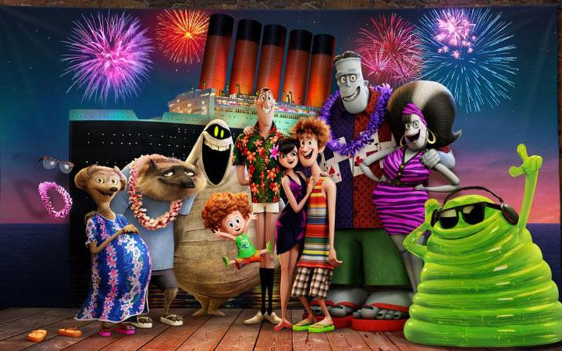"Animated characters appear in the movie ""Hotel Transylvania 3: Summer Vacation."" The Catholic News Service classification is A-II -- adults and adolescents. The Motion Picture Association of America rating is PG -- parental guidance suggested. Some material may not be suitable for children. (CNS photo by Sony)"