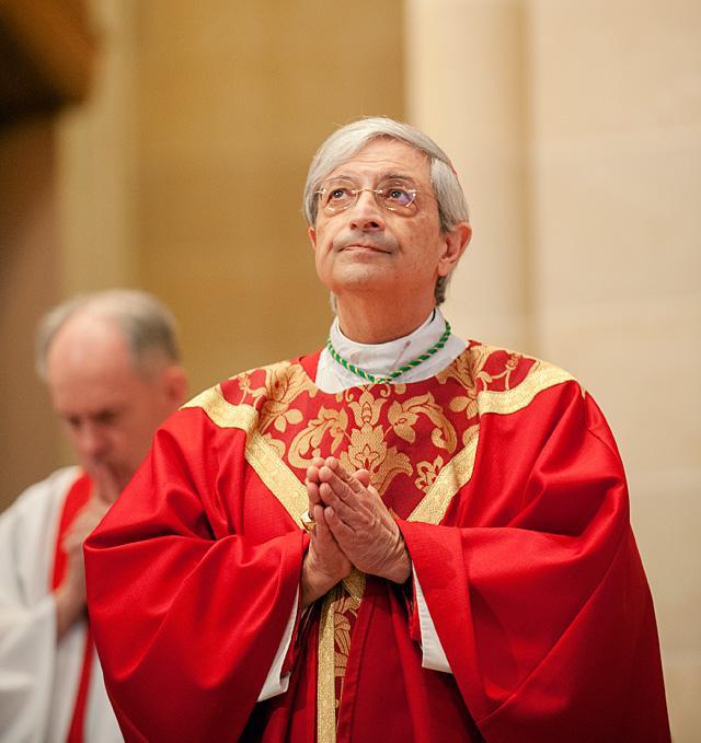 Bishop Salvatore R. Matano celebrates Mass Nov. 6 at Rochester's Sacred Heart Cathedral.