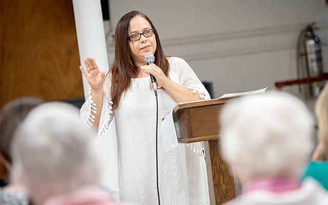 <p>During a May 9 event at Our Lady of the Americas Church in Rochester, Virgen Lopéz speaks about her experiences in Puerto Rico following Hurricane Maria and her decision to flee the island.  </p>