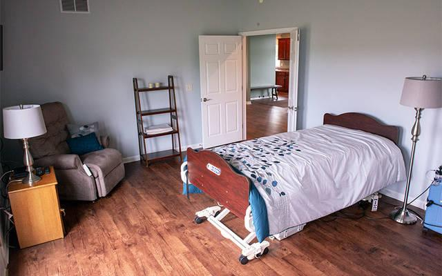 <p>The newly built Patrick Place comfort-care home in Scottsville will provide hospice care for up to two individuals in the last stages of life. (Courier photo by Jeff Witherow) </p>