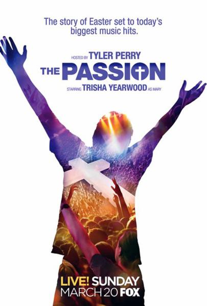 "This is a poster from ""The Passion,"" a two-hour, live musical event being broadcast by Fox from New Orleans on Palm Sunday, March 20. The Scripture-based narrative, written by Peter Barsocchini, will unfold live on a stage erected in the city's Woldenberg Park and through a series of pre-taped segments broadcast on the stage's jumbo screen."