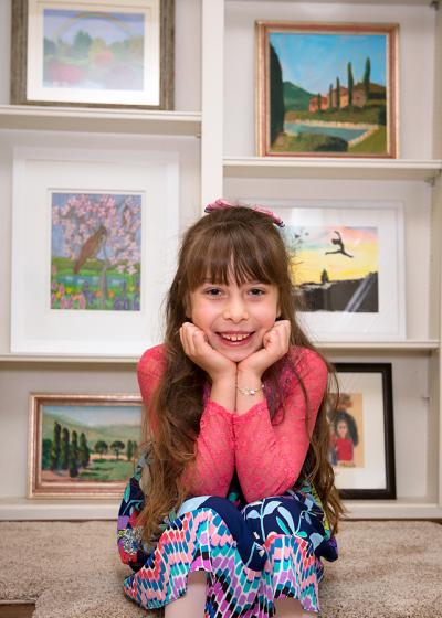 Eight-year-old Maia Bastianelli has begun using her passion for art as a means to raise funds for Daystar.