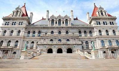 This 2008 photo depicts the New York state Capitol in Albany.