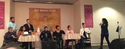 """Cast of """"Cuentos del Corazón"""" participated in Q&A following performance on Feb. 6 in Rundel Library's Kate Gleason Auditorium."""