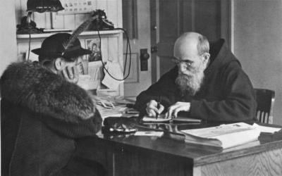 <p>Blessed Solanus Casey, who was beautified during a Mass Nov. 18 at Ford Field in Detroit, records a note from a woman who visited him at St. Bonaventure Monastery in Detroit in 1941. The Capuchin Franciscan friar kept dozens of notebooks filled with prayer requests and favors from the thousands who visited him each year.  </p>