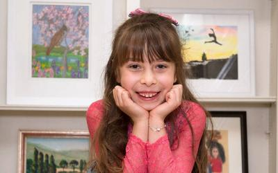 <p>Eight-year-old Maia Bastianelli uses her passion for art as a means to raise funds for Daystar for Medically Fragile Children.  </p>
