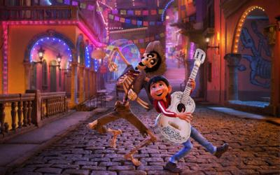 "<p>Hector, voiced by Gael Garcia Bernal, and Miguel, voiced by Anthony Gonzalez, appear the animated movie ""Coco.""  </p>"