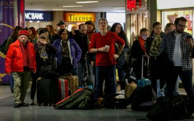 <p> Holiday travelers in New York City wait to board an Amtrak train Nov. 22. </p>