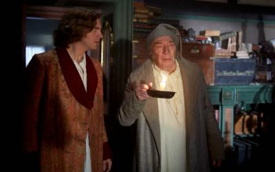 "<p>Dan Stevens and Christopher Plummer star in a scene from the movie ""The Man Who Invented Christmas.""  </p>"
