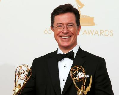 "Stephen Colbert, who took over Sept. 8 as host of CBS' ""Late Night"" program, said in an interview for Canada's Salt and Light Television that his ""Colbert Report"" character was intended to be a ""well-­intentioned, poorly informed, high­status idiot."""