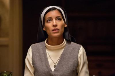 "Stephanie Sigman stars in a scene from the movie ""Annabelle: Creation."""