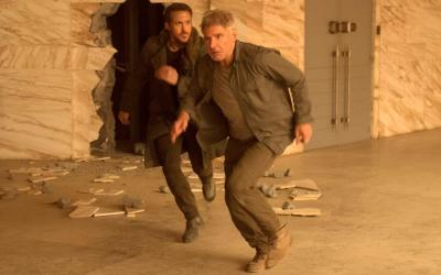 "Ryan Gosling and Harrison Ford star in a scene from the movie ""Blade Runner 2049"""