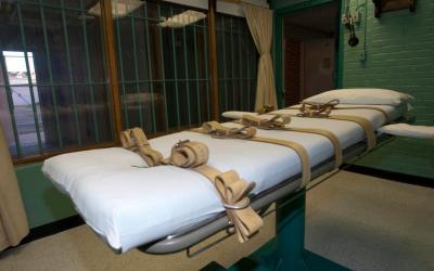 The death chamber table is seen in 2010 at the state penitentiary in Huntsville, Texas. Pope Francis' recent statement that the death penalty is incompatible with the Gospel is viewed by some as a development of doctrine and by others as a departure from church teaching.