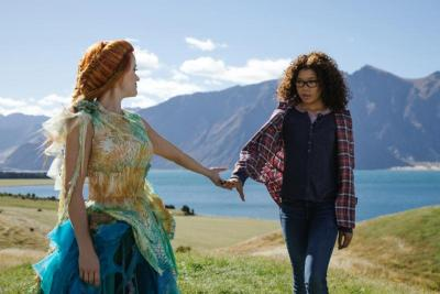"""Reese Witherspoon and Storm Reid star in a scene from the movie """"A Wrinkle in Time."""""""