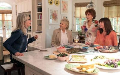 "Diane Keaton, Candice Bergen, Jane Fonda and Mary Steenburgen star in a scene from the movie ""Book Club.""  (CNS photo by Paramount)"