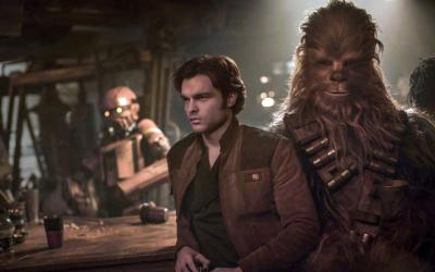 """Alden Ehrenreich plays Han Solo and Joonas Suotamo plays Chewbacca in a scene from the movie """"Solo: A Star Wars Story."""" (CNS photo by Disney)"""