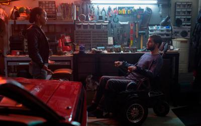 """Betty Gabriel and Logan Marshall-Green star in a scene from the movie """"Upgrade."""" The Catholic News Service classification is L -- limited adult audience, films whose problematic content many adults would find troubling. The Motion Picture Association of America rating is R -- restricted. Under 17 requires accompanying parent or adult guardian. (CNS photo by Universal Pictures)"""