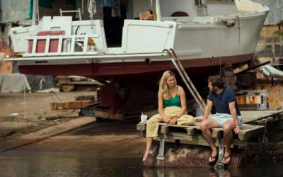 """Shailene Woodley and Sam Claflin star in a scene from the movie """"Adrift."""" The Catholic News Service classification is A-III -- adults. The Motion Picture Association of America rating is PG-13 -- parents strongly cautioned. Some material may be inappropriate for children under 13. (CNS photo courtesy of STXfilms)"""