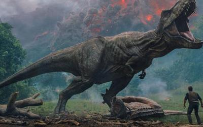 """Chris Pratt stars in a scene from the movie """"Jurassic World: Fallen Kingdom."""" (CNS photo by Universal Pictures)"""