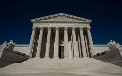 The U.S. Supreme Court is seen in Washington July 9. (CNS photo by Tyler Orsburn)