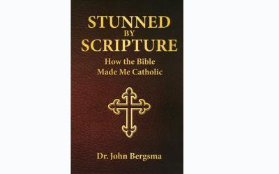 "This is the cover of ""Stunned by Scripture: How the Bible Made Me Catholic"" by John Bergsma. The book is reviewed by Eugene J. Fisher. (Photo by CNS)"