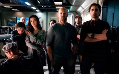 "Page Kennedy, Ruby Rose, Li Bingbing, Jason Statham and Cliff Curtis star in a scene form the movie ""The Meg."" The Catholic News Service classification is A-III -- adults. The Motion Picture Association of America rating is PG-13 -- parents strongly cautioned. Some material may be inappropriate for children under 13. (CNS photo by Warner Bros.)"