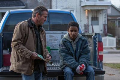 """Dennis Quaid and Myles Truitt star in a scene from the movie """"Kin."""" (CNS photo by Lionsgate)"""