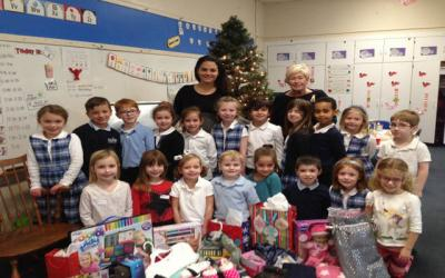 "<p>Marie Thomasulo's kindergarten class at Seton Catholic School in Brighton ""adopted"" a family in need and collected donations for them this Christmas.   </p>"