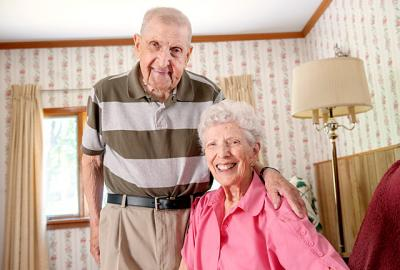 Don and Shirley Maranda, parishioners of Rochester's Our Lady of the Americas Parish, have been married for more than 71 years.