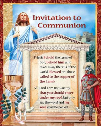 The Invitation to Communion in the newly translated Roman Missal references the story of the centurion in Luke 7:6-7.