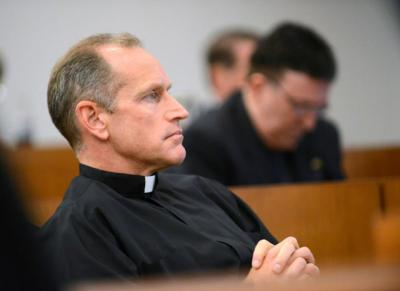 Father Rob Hagan, team chaplain of the 2016 national champion Villanova Wildcats, is seen in this 2012 file photo.