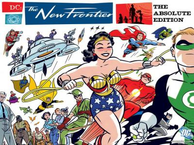 """This is an image from the comic book series """"DC: The New Frontier."""" The Catholic News Service classification is A-III -- adults. Not otherwise rated."""